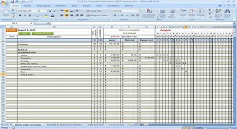construction cost to complete using excel construction
