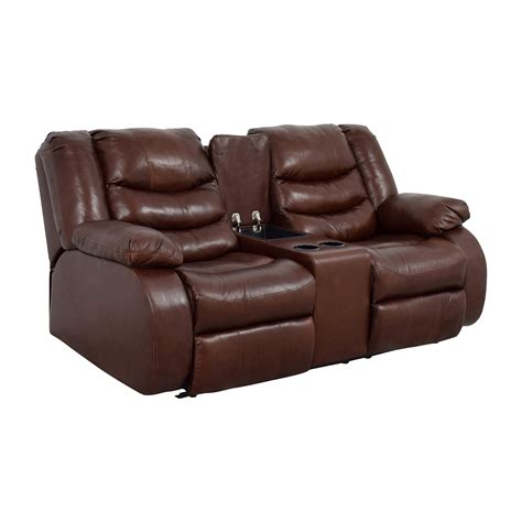 brown leather reclining couch 82 off ashley furniture ashley furniture brown leather