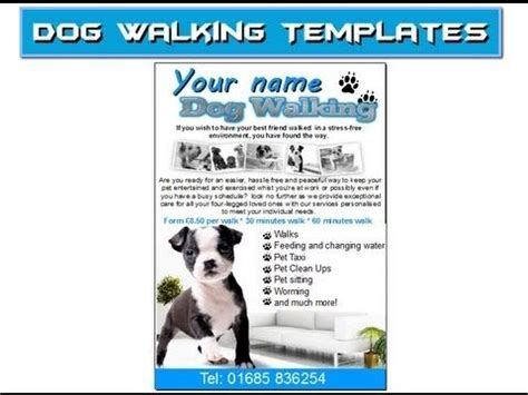 Dog Walking Flyer Leaflets Templates Mind My Business Pinterest Flyers Dogs And Dog Walking Walking Business Flyer Template