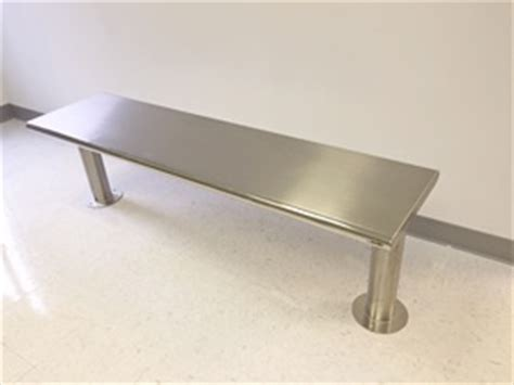 bench leveling feet gowning benches bosio stainless