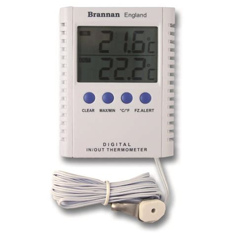 Thermometer Max Min digital max min indoor outdoor thermometer 12 412 3 brannan