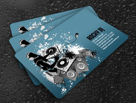 dj business card template psd free 100 free business card templates designrfix