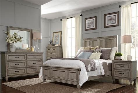 panel bedroom sets grayton grove driftwood panel bedroom set from liberty coleman furniture