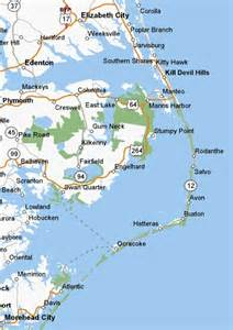 carolina outer banks map