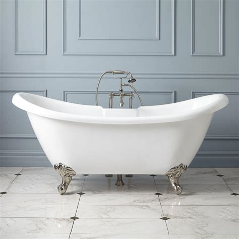footed bathtubs clawfoot tubs cast iron acrylic and copper signature