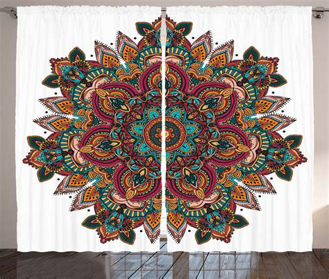 indian pattern curtains ethnic mandala design indian boho style centre pattern art