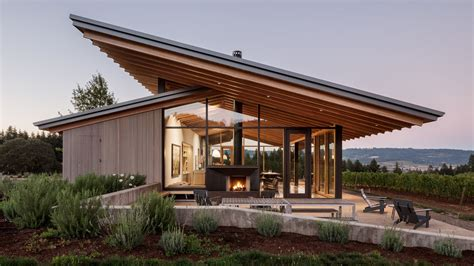 Tiny House For Family Of 4 Wine Tasting Room Goes Sleek And Minimalist In Oregon Curbed