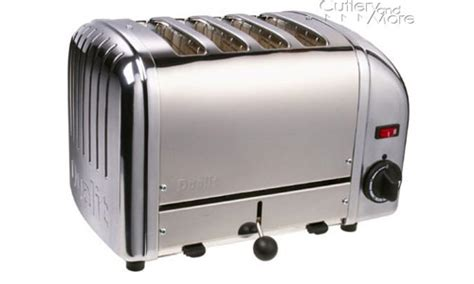 Professional Toasters dualit vario professional toaster 4 slice chrome cutlery and more