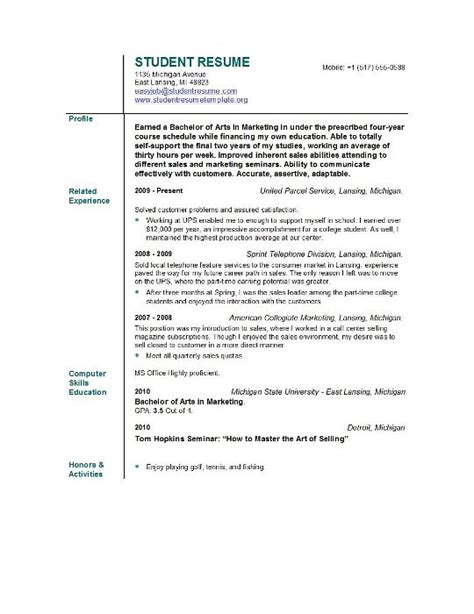 Objective For Business Student Resume Sles Cv Objective Statement Exle Resumecvexle