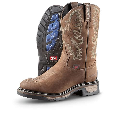 mens cowboy work boots s tony lama 174 waterproof pull on work boots