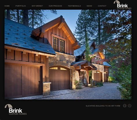 brink custom homes website design d4 advanced media