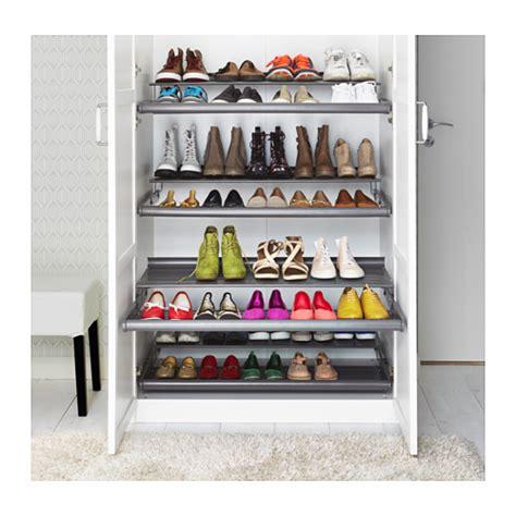 shoe shelves ikea komplement pull out shoe shelf grey 100x58 cm ikea
