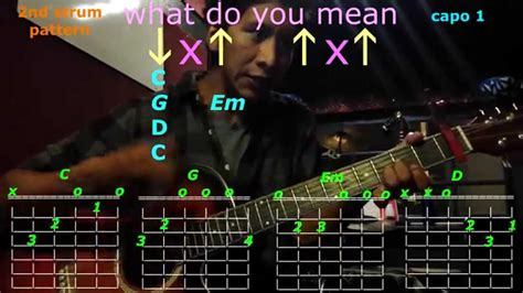 tutorial guitar what do you mean what do you mean justin bieber guitar chords youtube