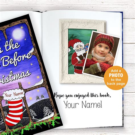 personalized twas  night  christmas book