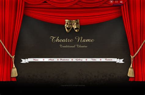 theater template theatre name gallery template best website templates