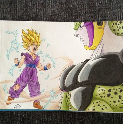 how much does color me mine cost gohan vs cell by pandapopx on deviantart
