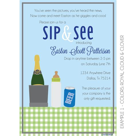 Sip And See Baby Shower by Boozy Sip And See Invitation Baby Shower Kateogroup