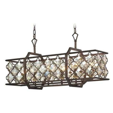 Rectangular Island Light Elk Lighting Armand Weathered Bronze Island Light With Rectangle Shade 31098 6 Destination