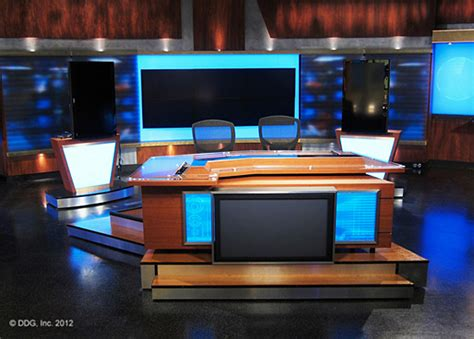 Milwaukee Nbc Debuts New Contemporary Set From Devlin News Studio Desk