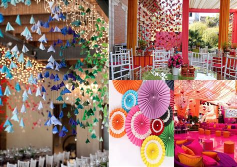 Origami Wedding Decorations - wedding decor theme theme wedding planner new delhi