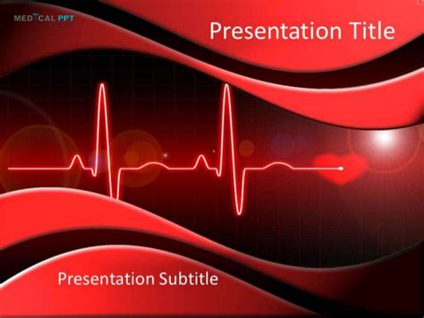 cardiac ppt template cardiology powerpoint template