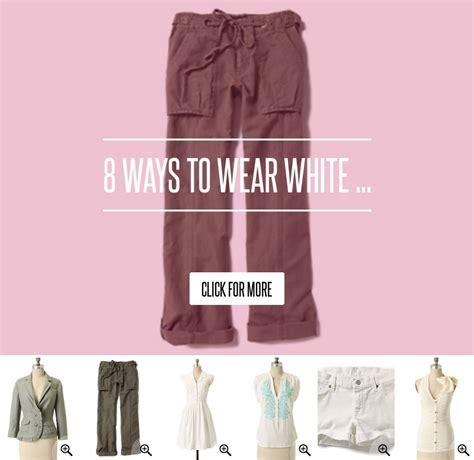 8 Ways To Wear White by 8 Ways To Wear White Fashion