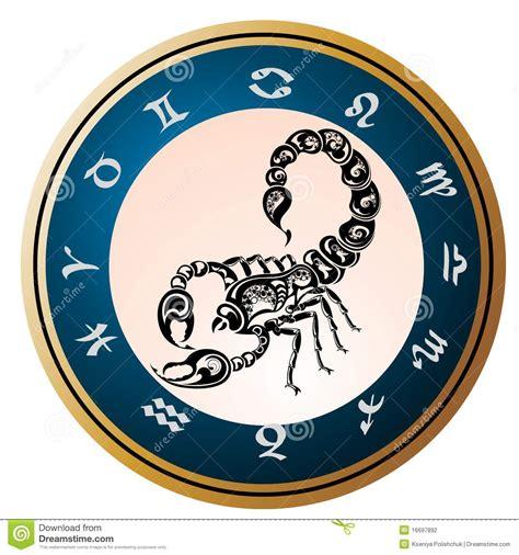 zodiac signs scorpio tattoo design stock vector image