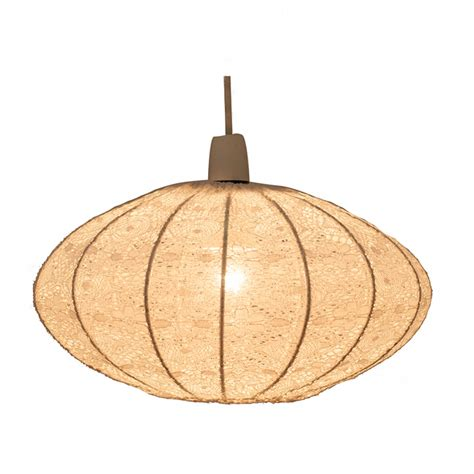 Oval Pendant Light Lace Oval Pendant White Imperial Lighting