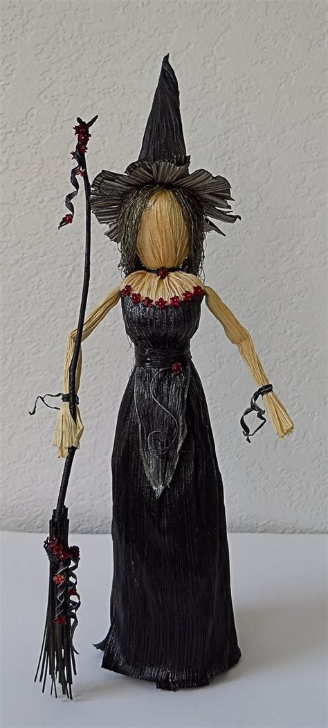corn husk witch dolls witch corn husk doll with broom