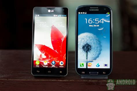 lg optimus g lg optimus g vs samsung galaxy s3