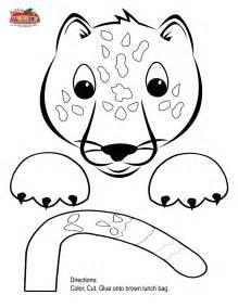 Print our jaguar puppet paper .