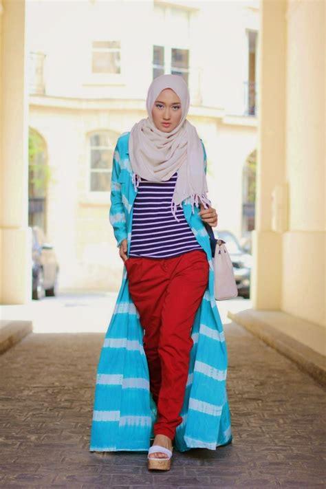 Gamis Kerut Jumputan Pelangi Cerah til chic dan stylish buat hijabers inspirasi 10