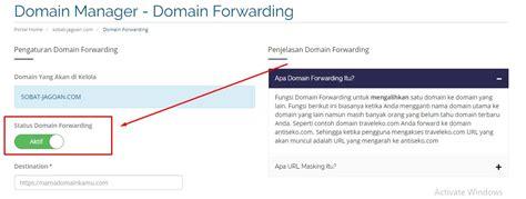 domain forwarding  member area jagoan hosting