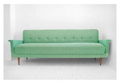 on hold until april 26th vintage sea foam green sofa