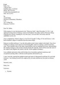 Exle Of Simple Cover Letter For Application by Application Letter Exle For High School