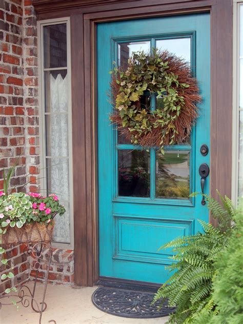 Blue Front Door Paint Popular Colors To Paint An Entry Door Installing Decorating Windows Doors Diy