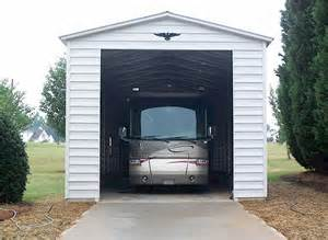 motorhome garages bradley mighty steel rv garage for sale rv shelter pricing