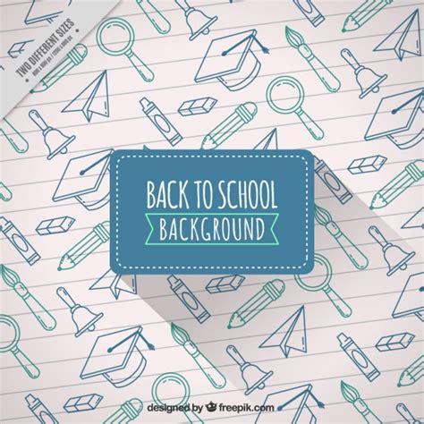 imagenes de utiles escolares a blanco y negro fondo escolar de dibujos de materiales en una hoja de