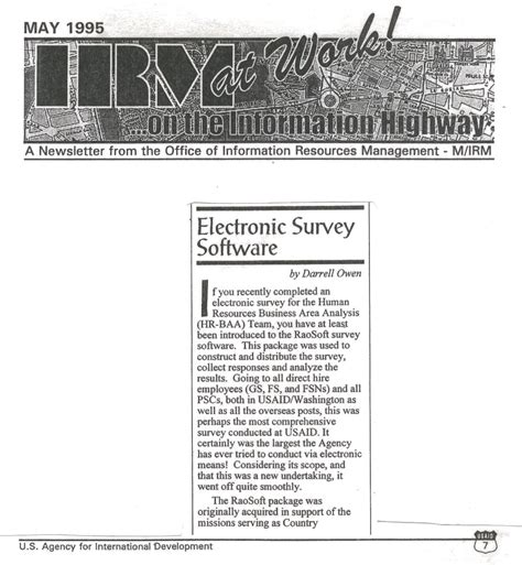 Electronic Survey Tools - raosoft inc news and articles on raosoft survey software