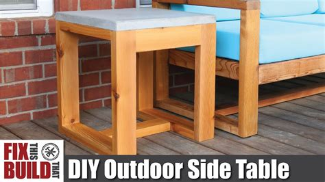 diy outdoor side table  concrete top  challenge