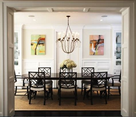 abstract landscape paintings transitional dining room los angeles by blue tangerine