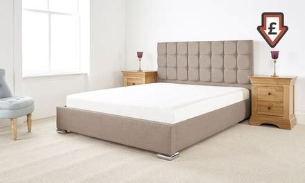 Bed Frame And Mattress Deals Uk Thames Textured Linen Bed Groupon Goods