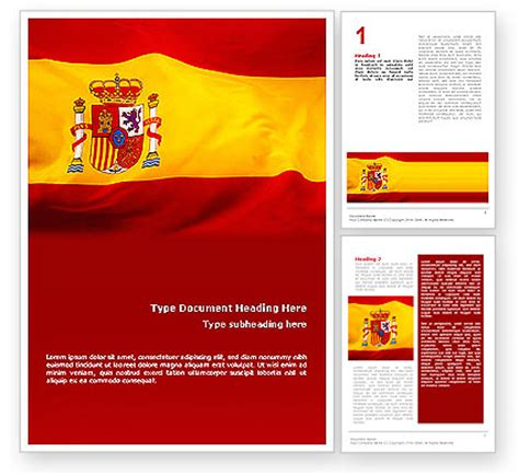 spanish flag word template 01942 poweredtemplate com