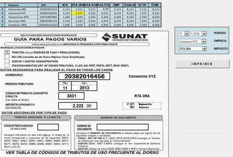 descargar formato recibos portalprogramascom guia pagos varios sunat formulario 1662 azratem el