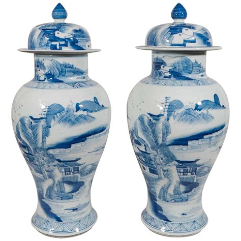 chinese ginger jars antique chinese porcelain ginger jars blue and white at