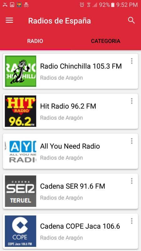 radios de espa 241 a fm am emisoras espa 241 olas apk download