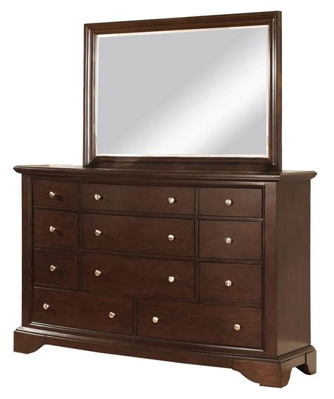 dresser with mirror in espresso finish express home decor