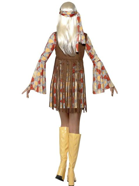 adult  hippie fringed costume  fancy dress ball