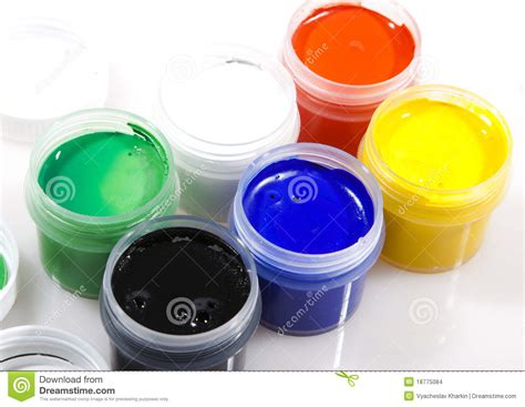 paint of different colors stock images image 18775084