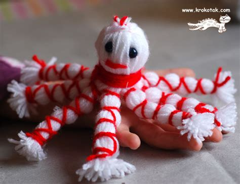 Last Day For Christmas Decorations Krokotak Yarn Octopus